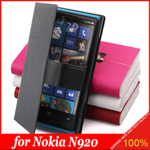 Geniue Leather Wallet Flip Around Leather Case Cover for Nokia Lumia N920