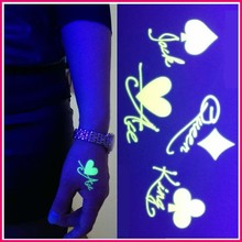 New Fashionable flash glow in the dark temporary tattoo kit