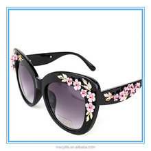 MECY LIFE wholesale new designs of flowers advertising sunglasses