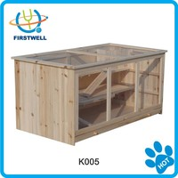 Small animal house wooden hamster house cage