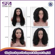 Best Quality Kanekalon Heat Resistant Fiber / Synthetic Lace Front Wig