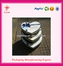 2015 newest fashion heart-shaped paper gift boxes paper box for gift