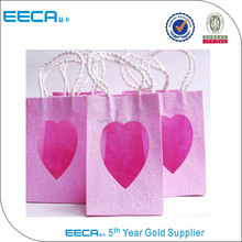 Christmas reusable shopping bag with heart pvc window