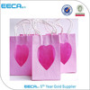 New products reusable shopping bag with heart pvc window