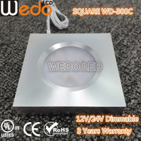 3W Recessed DC24V dimmable LED Cabinet puck light for wardrobe bookcase lighting