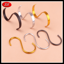 customized larges s hook, silver plating s hooks, various of stainless steel S hooks