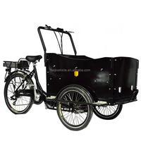3 wheel family electric tricycle cargo bikes rikshaw three wheeler