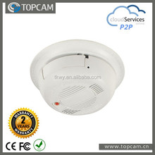 1/4'' CMOS 1.0 MP 720P indoor Smoke Detecter IP Camera with 3.7mm pinhole lens