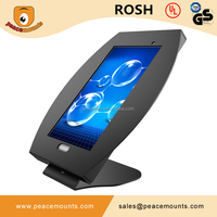 45 degrees tiling L shaped free standing on desk 360 degrees Swivel Universal Adjustable Desk Mount Tablet Stand