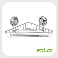 ECOLOC Suction cup bathroom corner rack, corner bathroom shelf, triangle shape