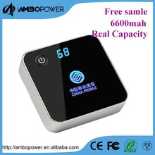 rohs power bank 6000mah/mobile power supply