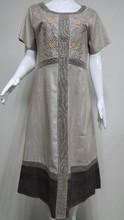 2015 ROUND-NECK DESIGN LADIES DRESS