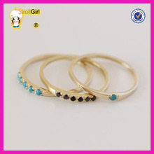 Rose gold/18k gold jewelry wholesale silver gemstone jewelry 1g gold ring with onyx/tuoquiso gemstone ring