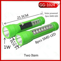 NEW design solar rechargeable led flashlight