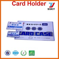 Clear business and credit card case for plastic manufacturer