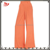 wholesale pleated wide leg trousers for ladies