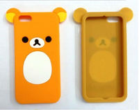 2013 New bear cell phone case ,slicone rubber mobile phone covers for iphone 5