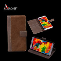 Book design genuine leather for samsung note case