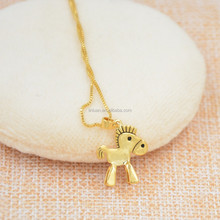party decoration wholesale gold plated horse necklace
