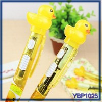 japanese promotional yellow duck magnetic floating ballpoint pen refills