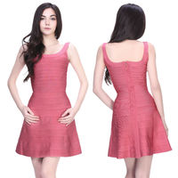 creative designing sexy pink western short bandage ghana dress styles