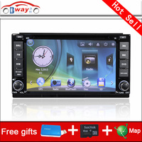 Bway 2 din car video player for Greatwall M4 2012 car dvd player 256 MB RAM with car Radio bluetooth,steering wheel