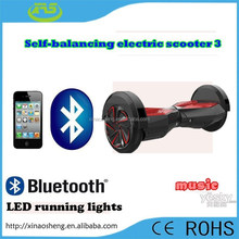 2015 new technology two wheel smart balance electric scooter Bluetooth music