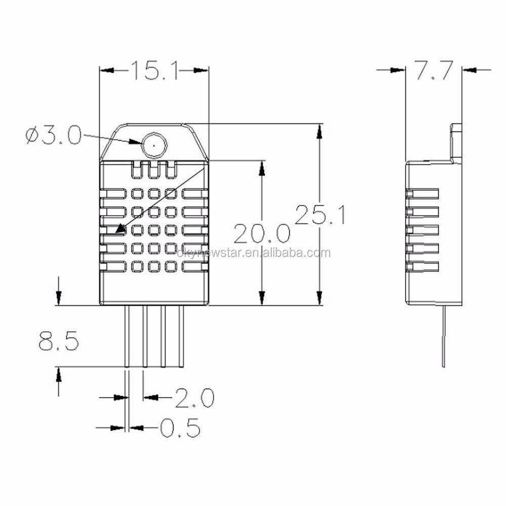 am2302 dht22 digital temperature humidity sensor module