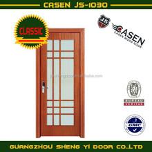 classic ground glass wood door