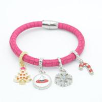 Fashion Festival Bracelet Jewelry Merry Christmas Novelty Products Christmas Tree and Snowflake Charm Bracelet Christmas Present