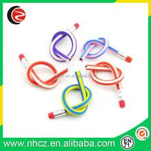 elastic soft pencils, flexible color pencil