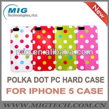 Cute and dot style case for iphone5S, cover for iphone 5