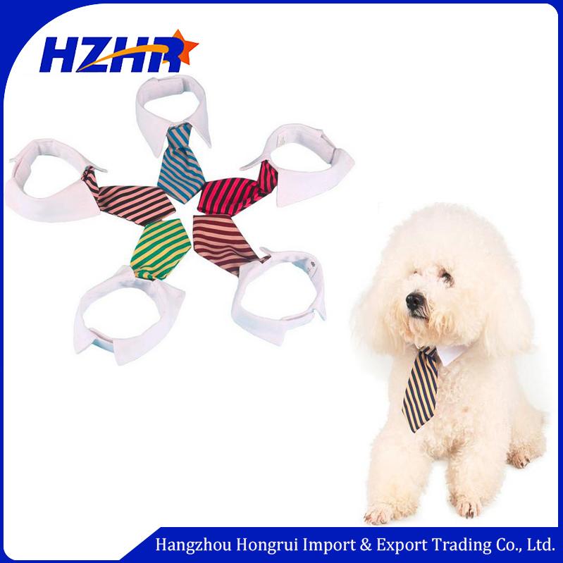 Toptan Pet Aksesuarları Beyaz Velcro ile Ayarlanabilir Şerit Köpek Boyun Bow Tie Yaka