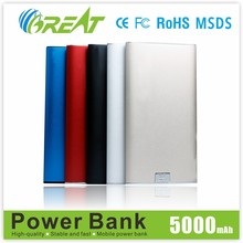 New style power bank for smartphone,polymer power bank,5000 mah power bank
