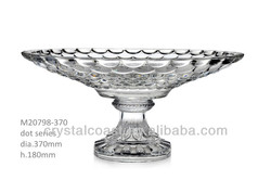 wine glass storage candy containers; decoration fruit plate glass compote;wholesale glass clear candy dish;chocolate trays