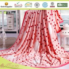 fashionable flannel blanket coral fleece velvet blanket fruits printing