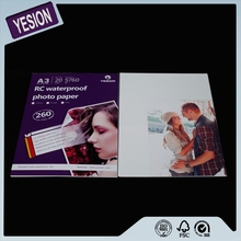 Yesion Premium A4 RC Inkjet High Glossy Photo Paper 260gsm, Factory Supply For Minilab