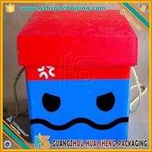 Alibaba gros mignon dessin animé Full Color boîtes pour l'emballage