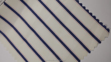 2015 Collection Icing White Navy Cotton Stripes Fabric