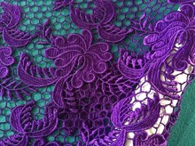 New fashion dress chemical embroidery design,water soluble fabric
