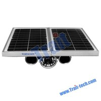 1280x720 resolution Night Vision Alarm Detection outdoor solar powered wireless IP camera with battery