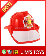 Plastic Toy Fire Helmet with Mask Toy Fireman Hat