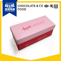 Pink frozen food box packaging for birthday cake