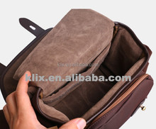 2015 NEW DARK BROWN SA-003 leather camera bag for samsung