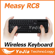 Original Measy RC8 3-in-1 Mini 2.4G USB Wireless Keyboard RC8 Air Fly Mouse Touchpad Remote Touch pad for Mini PC Android TV Box