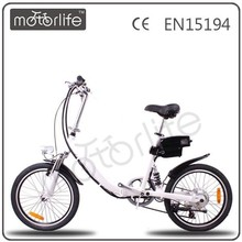 MOTORLIFE EN15194 CE proved hot sale cheap 36v 250w 20inch china bicycle factory