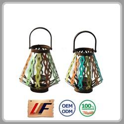 Designs Available Vintage Cage Shape Honeycomb Lantern