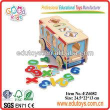 La sabiduría de madera juguetes de autobuses, juguetes de madera al por mayor