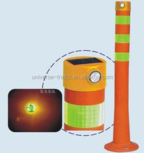 solar lamp for warning post/solar light on spring