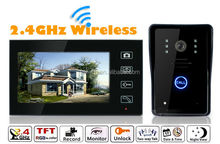 Touch Keypad 2.4Ghz 7'' inch TFT LCD Color Screen Circuit diagram wireless data intercom with Photo taken CE